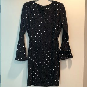 LOFT Polka Dot Shirt Dress